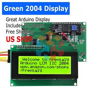 2004 204 20x4 Green Lcd Serial Character Module Display Iic i2c twi Arduino Kit
