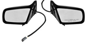 1987 1993 Mustang Coupe Hatchback Lh Rh Side Power Outside Mirrors Pair