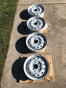 Mga Wheels 1962 1600 Vintage Steel Disc Four Powder Coated Dove Gray Excellent