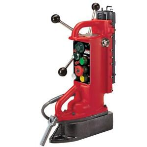 Electro magnetic Adjustable Position Drill Press Base With 11 In Drill Travel