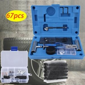 67x Heavy Duty Tire Repair Kit Set For Car Motorcycle Atvs Jeep Truck Tractors