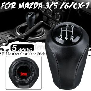 5 Speed Gear Shift Knob For Mazda 3 Bk Bl 5 Cr Cw 6 Ii Gh cx 7 Er Black