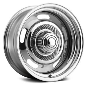 Vision 57 Rally Wheels 15x7 6 5x127 81 7 Chrome Rims Set Of 4