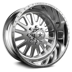 American Force F20 Atom Ss Wheels 20x10 25 6x135 Polished Rims Set Of 4