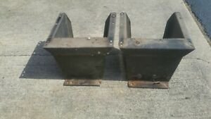 1970 S Dodge Van Bucket Seat Mounting Boxes Tradesman Sportsman Mopar