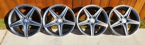 Set Of 4 Mercedes E300 Amg 2017 2019 18 Factory Oem Non Staggered Wheels Rims