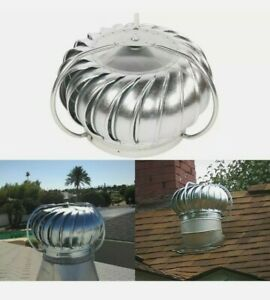 12 In Wind Turbine Replacement Head Attic Exhaust Vent Roof Rotary Ventilator