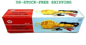 Super Bright Trouble Light Garage Lamp 12v 20ft 50w Bulb W Clips On Off Switch
