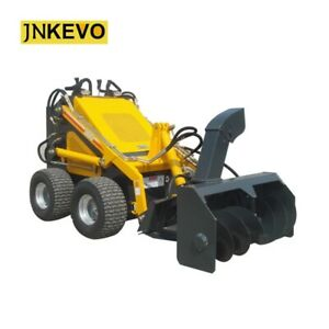 Snow Blower snowplow snow Remover Equipped Skid Steer Loader With 23hp Engine
