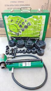 Greenlee 7646 4 Conduit Hydraulic Knockout Punch Set 767 Pump 746 Ram Clean