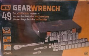 Gearwrench 49 Piece 1 2 Drive 6 Point Sae metric Socket Set new