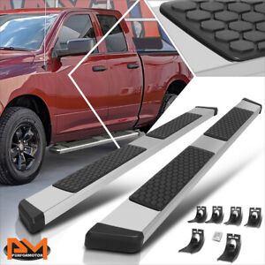 For 09 20 Dodge Ram 1500 3500 Ext Cab 5 5 Step Aluminum Running Boards Silver