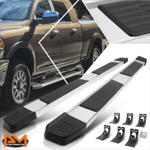 For 09 20 Dodge Ram 1500 3500 Crew Cab 6 Step Pad Side Nerf Bar Running Boards
