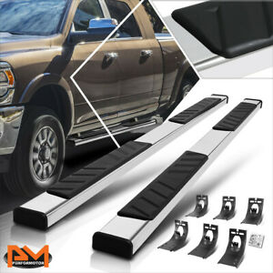For 09 20 Dodge Ram 1500 3500 Crew Cab 5 Step Pad Nerf Bar Running Board Silver