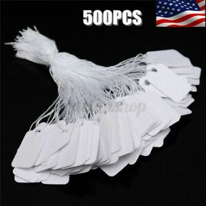 500pcs Price Tags Merchandise Sale Iscount String For Shopping Retail Store S
