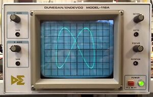 Dunegan endevco 118a Restored To Leader Lbo 51ma Oscilloscope X y Display Crt