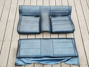 1971 72 1973 Ford Mustang Mach 1 Cj Boss Fastback Non Fold Down Rear Seat Blue