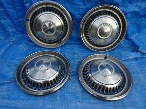 1968 Chevy Impala 1969 1970 Nova Vans 14 Wheel Covers Hub Caps Set Of 4