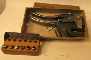 Whitney 5 Metal Punch Set With Original Box Very Lightly Used