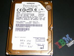 80gb Hard Drive With Bmw Gt1 Ops Dis V57 Sss V41 For Ibm T30