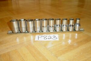 Snap On Tools 10 Piece 1 2 Drive Metric 6 Point Short Socket Set 10mm To 19mm