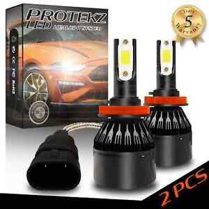 Cob H4 Hb2 9003 Protekz Cree Led Headlight Kit Hi Lo Power Bulbs 6000k