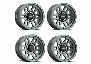 Set 4 15x7 5 Vision Off Road Manx 2 Overland Grey 5x4 5 Wheels 12mm W Lugs
