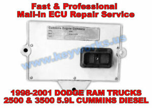 98 01 Dodge Ram Trucks 2500 3500 Diesel Ecu ecm Repair Service P0606 Fix More