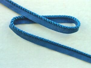 99 CENT SPECIAL SALE 1 4quot; Blue Silky Rayon Lip Cord Trim Pillows Upholstery $0.99