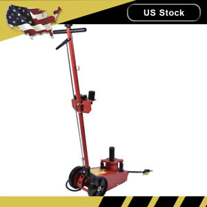 22 Ton Air Hydraulic Floor Jack Truck Power Lift Auto Truck Repair W Saddle