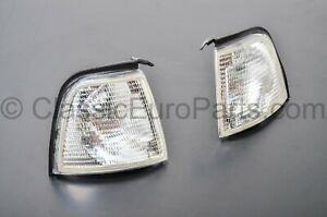 Euro Clear Front Turn Indicator Set Next To Headlights For Audi 80 4000 B3 Sedan