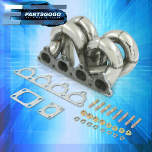 For 88 00 Honda Civic D15 D16 D Series Jdm Stainless Steel Turbo Racing Manifold