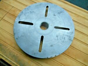 9 3 4 Lathe Face Plate 1 1 2 8 Tpi Appears To Be Aluminum