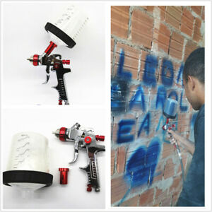 Pps Tank Hvlp Spray Gun 1 4mm Nozzle Paint Airbrush With Adapter And 600cc Cup