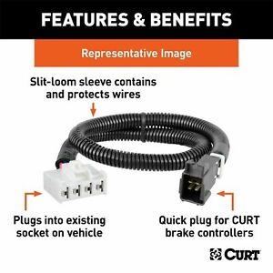 Curt 51451 Trailer Brake Controller Harness For Select Cadillac Chevrolet Gmc