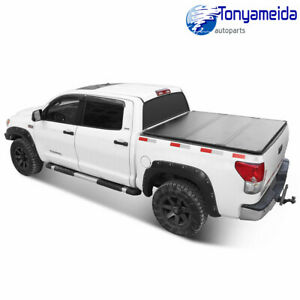 For F 150 Ford 2004 2018 Lock Hard Solid Tri fold Truck Bed Tonneau Cover 5 5ft