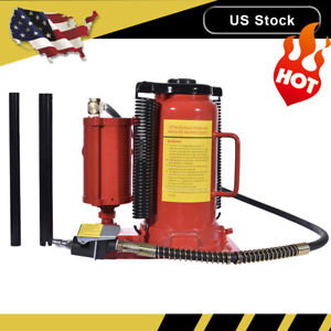 20 Ton Air Hydraulic Bottle Jack Manual 40000lb Heavy Duty Auto Truck Rv Repair