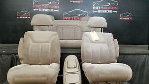 1997 Chevy 1500 Extended Cab Front Rear Cloth Seats Neutral Trim Code 92d