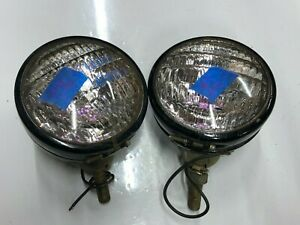 Pair 12v Dietz Lights Vintage Auto Lamp Old Truck Tractor Driving Fog Bus Van