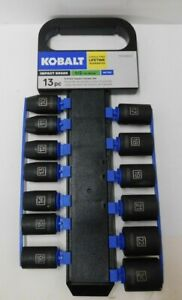 Kobalt 13 Piece Set 1 2 Drive 6pt Impact Grade Socket Set Metric 0338633