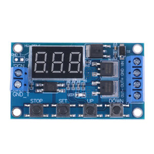 Led Dc 5v 36v Dual Mos Control Cycle Trigger Timer Delay Relay Module Switch gn