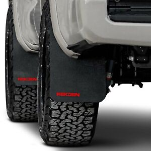 For Toyota Tacoma 2016 2020 Rek Gen T1004 Rally Edition Mud Flaps W Red Logo