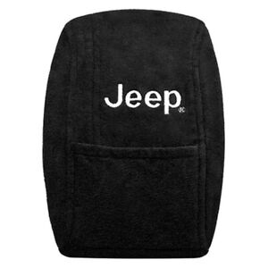 For Jeep Wrangler 1997 2000 Seat Armour Black Cotton Terry Velour Console Cover