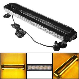 26 7 54 Led Amber Strobe Light Bar Emergency Beacon Warn Tow Truck Roof Top