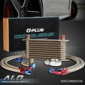 Universal 10 Row An10 Engine Transmission Oil Cooler Gold Filter Adapter Kit