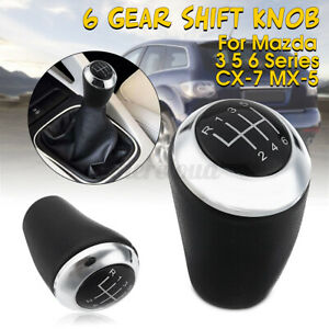 6 Speed Gear Shift Knob Lever Stick Shfiter For Mazda 3 5 6 Series Mx5 Cx7