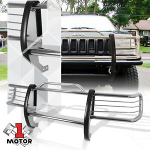 Chrome Stainless Steel Grille Brush Headlight Guard For 84 01 Jeep Cherokee Xj