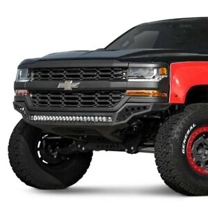 For Chevy Silverado 1500 16 18 Rock Fighter Full Width Black Front Hd Bumper