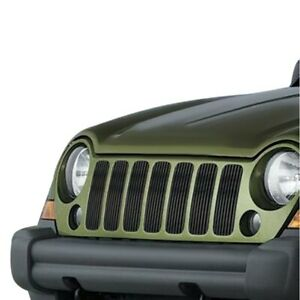 For Jeep Liberty 2005 2007 Apg 7 Pc Black Vertical Billet Main Grille Fits Jeep Liberty