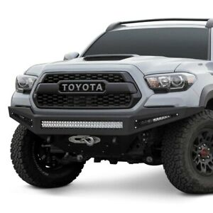 For Toyota Tacoma 16 20 Honeybadger Full Width Black Front Winch Hd Bumper